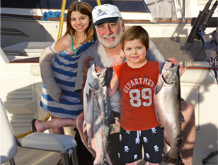 Lake Michigan Fishing Charters Captain Oberman